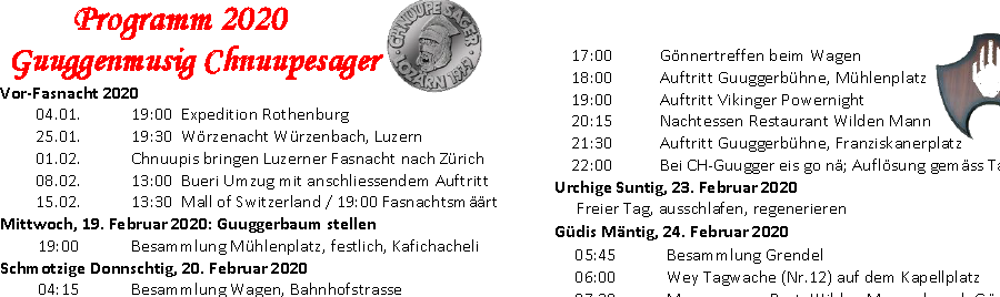 Fasnachts-Programm